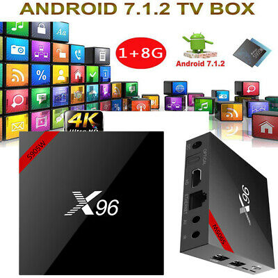 X96 Smart Android 7.1.2 TV Box Amlogic S905W Quad Core DLNA WiFi H.265 VP9 4K*2K