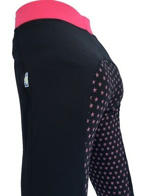Ladies Black Full Seat Silicone Grip Riding Tights Lycra Riding Tight *Seconds*