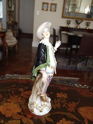 "Rare Large Historical Meissen Figurine Commedia dell' Arte Series ""Pierrot"""