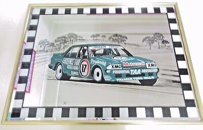 Dick Johnson Kevin Bartlett Green Ford Falcon XE Mirror *Pick up Blaxland NSW*