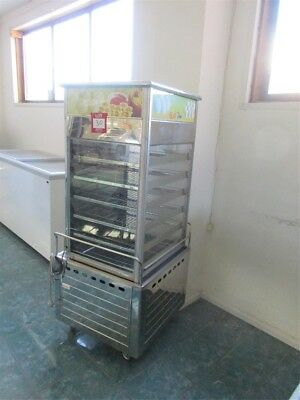MSM stainless steel & glass, 6 tier tray Bain Marie style food warmer