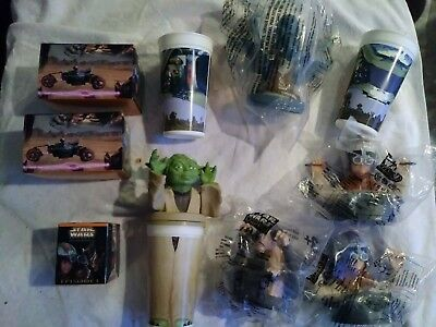 New Lot of 5 Star Wars Episode 1 KFC/Taco Bell/Pizza Hut Figure Lid Cup Toppers