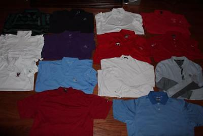 Lot Of 14 Nike Dri-Fit Mens Golf Polo Shirts Adidas Callaway 1/2 Zip Pullover Xl