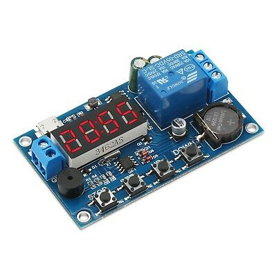 DROK Digital Programmable Time Clock Switch Timer Relay Board DC 5-60V Input ...