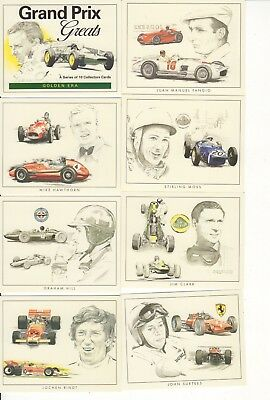 Full set of Grand Prix Greats Trade Cards