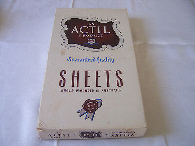 Unused Boxed Pair Of Vintage Actil Sheets Sb