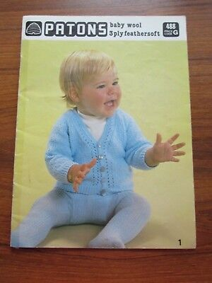 Patons 10 Baby Designs Knitting Pattern Book 488
