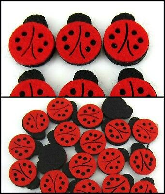 20 Felt Mini LadyBugs 1.6cmX1.9cm Scrapbooking,DIY,Decorate,Costumes,Headbands
