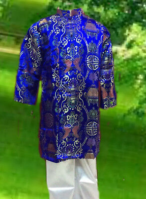 Kid Clothes Chinese/vietnamese Traditional Dress For Boys - Ao Dai Nam Cach Tan