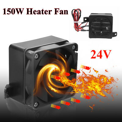 24V 150W Car Air Heater Fan Constant Temperature Heating Electric Heaters Black