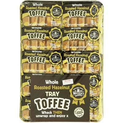 903965 10 x 100g PACKETS OF WALKER'S ROASTED HAZELNUT WRAPPED BRITISH TOFFEE!