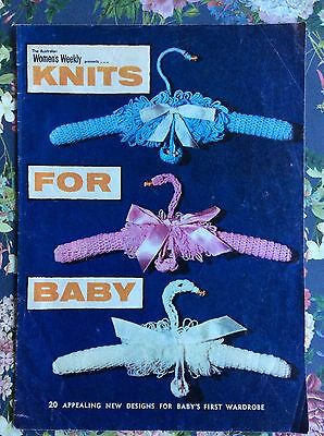 Women's Weekly Knits/Crochet Pattern for Baby 1972 Swan coathanger Sleeping bag