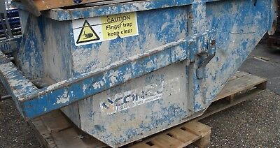 USED - Blue Conquip Tipping Skip - SWL 3000Kg