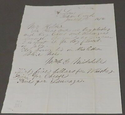 Letter to Holter Hardware from Indian Creek Mine Montana Territory 1874 Mining