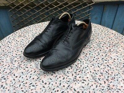 HAND MADE IN ITALY - Black Leather - Brogue - Lace Up - Shoes - Size 9