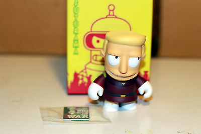 Futurama Kidrobot Zapp Branigan W/ Book. Bnib~3 In. Tall~ Free First Class!
