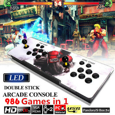 Pandora Box 5S 986 In 1 Double Stick Arcade Console Joystick Video Game Gifts