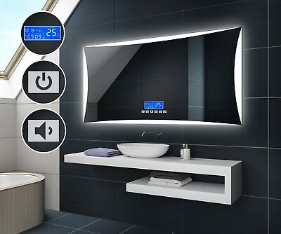 LED Illuminated Bathroom Mirror | LCD Panel with Switch & Bluetooth Speaker L77