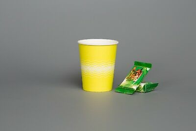 SUNSHINE YELLOW PAPER CUPS Night Hen Party 8oz 12oz Cold Hot Drinks Sip & LIDS