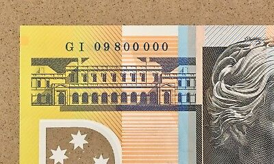 Awesome Serials 'gi 09 800000' 2009 Fifty Dollar ($50) Stevens/henry Note Wow