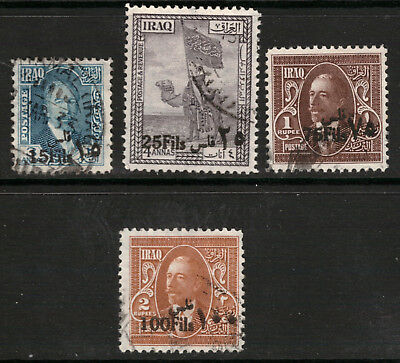Iraq 1932 King Faisal I FU lot of 4 stamps SG 112,114,117,118 CV 23 £