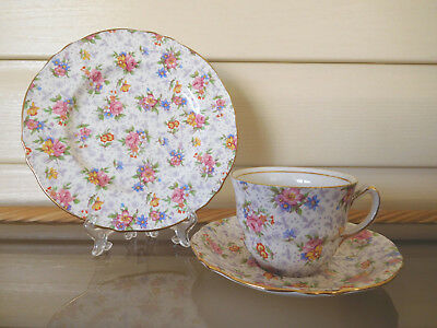 "Royal Winton ""Eleanor"" Chintz Trio Made In England 1940s"