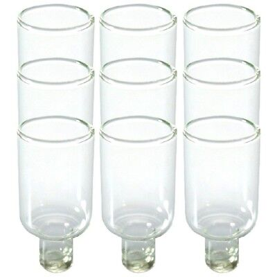 Lot of 9 Glass Oil Candle Cups Holders Narrow DIY Menorah Candlesticks Judaica