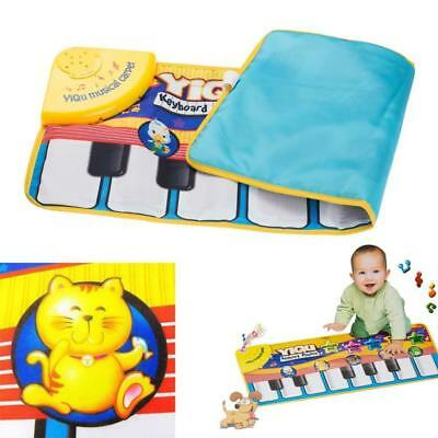 Musical Music Kid Piano Baby Crawl Mat Animal Educational Soft Kick Playing Toyホ