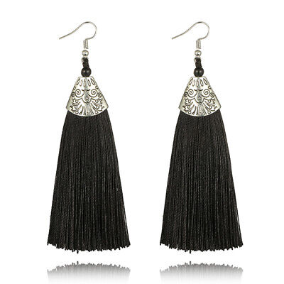 New Silky Ethnic Tribal Art Deco Style Boho Tassel Tassle Earrings Uk Seller