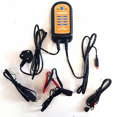4 Amp Intelligent Smart Battery Charger Suitable For >2.0L Engine
