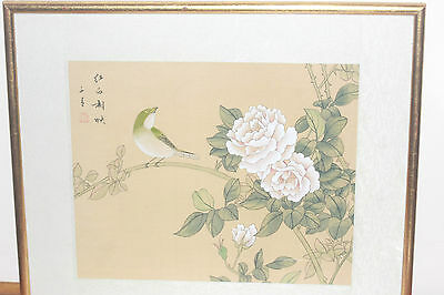 Chinese Framed Original Painting On Silk