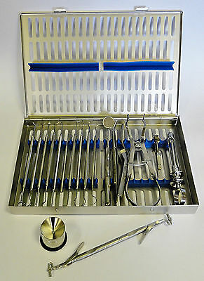 Set Of 18 Restorative Composite Instruments Dentist Laboratory Free Cassette New