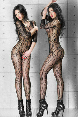 Catsuit bodystocking donna nero sexyshop intimo lingerie completino TU 79435