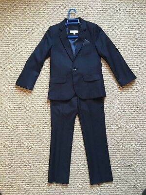 John rocha Navy Boys Suit, Age 7