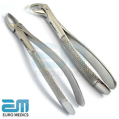 Set Of 2 Extraction Upper Lower Molars Dentistry Lab Forceps Instruments Dentist