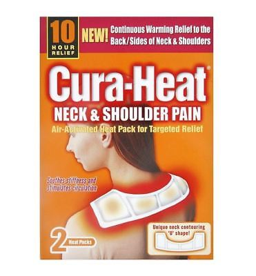 Cura-Heat Neck and Shoulder Pain - 2 Heat Patches 1 2 3 6 12 Packs