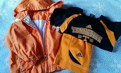 Tennessee Jacket & 2 Piece Outfit (Size 2T) Adidas Short Sleeve Shirt & Shorts