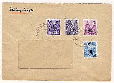 DDR Michel No. 435, 437, 438, 440 FDC