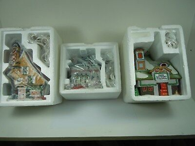 Lot of 3 different Heritage Village Collection North Pole Series Dept. 56 NIB