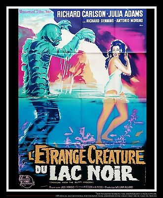 CREATURE OF THE BLACK LAGOON 4x6 ft French Grande Original Movie Poster 1954