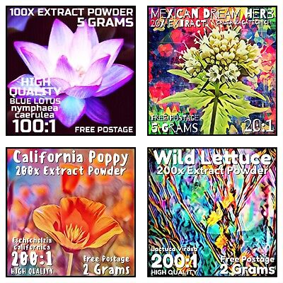 Extract Value Pack | Blue Lotus, Dream Herb, California Poppy, Wild Lettuce