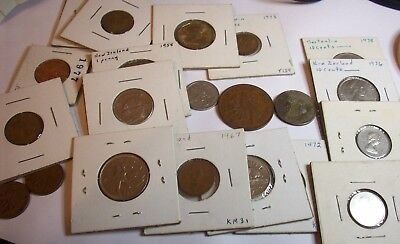 1949 New Zealand Penny 1961 Hong Kong 50 Cents Lot 22 British Commonwealth Coins