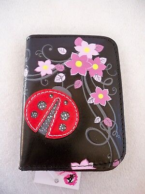 Portatessere Carte Ecopelle Credit Card Holder Coccinella Lady Bug