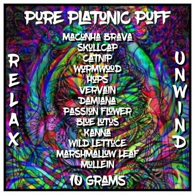 Pure Platonic Puff [10 Grams] High Quality Herb | Herbal Blend