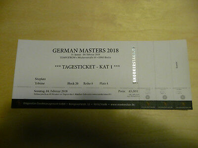 Snooker Tagesticket - Finale - German Masters 2018