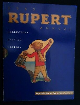 1943 Rupert Bear Limited Edition Facsimilie Annual With Slip Case