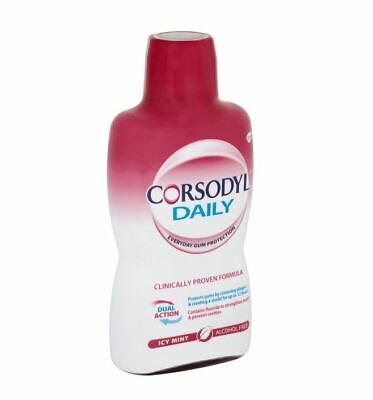 Corsodyl Daily Icy Mint Mouthwash - 500ml 1 2 3 6 12 Packs