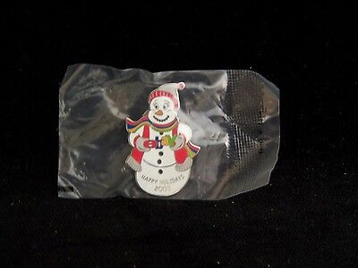 eBay Snowman Happy Holidays 2003 Collectible Pin Ebayana New in Package