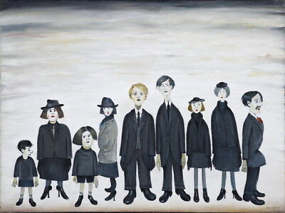 L.S. Lowry The Funeral Party Giclee Canvas Print  Poster Reproduction