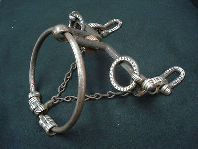Exquisite antique Spanish/Mexican chileno hand forged silver ring bit circa 1830